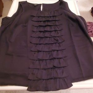 TALBOT'S BLACK SLEEVELESS BLOUSE 14WP